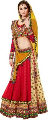 PRN Embroidered Women's Lehenga, Choli and Dupatta Set