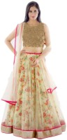 Decent Fabric Chaniya, Ghagra Cholis - Decent Fabric Embroidered Women's Lehenga, Choli and Dupatta Set(Stitched)