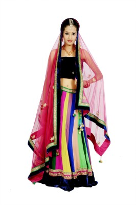 Tehzeeb Embellished Womens Lehenga, Choli and Dupatta Set
