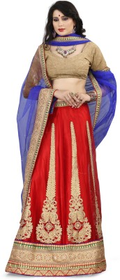 Anwesha Sarees Embroidered Women's Lehenga, Choli and Dupatta Set