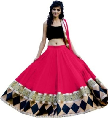MychoiceFashion Self Design Women's Lehenga, Choli and Dupatta Set