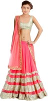 Dancing Girl Chaniya, Ghagra Cholis - Dancing Girl Self Design Women's Lehenga Choli(Stitched)