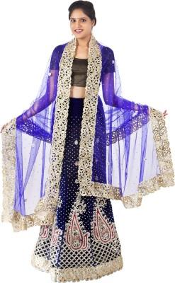 Celebez Embroidered Women's Lehenga, Choli and Dupatta Set