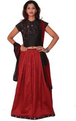 Aggana Embroidered Women's Lehenga, Choli and Dupatta Set