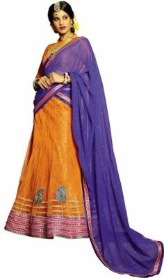 Melluha Fashion Embroidered Women's Lehenga, Choli and Dupatta Set