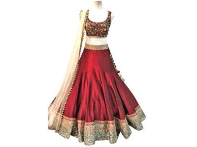 cartyshop Embroidered Women's Lehenga, Choli and Dupatta Set(Stitched) at flipkart