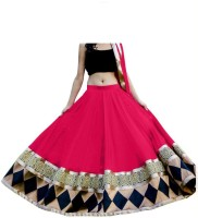 Happy Fashion Chaniya, Ghagra Cholis - HAPPY FASHION Embroidered Women's Lehenga, Choli and Dupatta Set(Stitched)