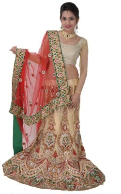 Aagaman Fashion Self Design Women's Lehenga, Choli and Dupatta Set(Stitched) at flipkart