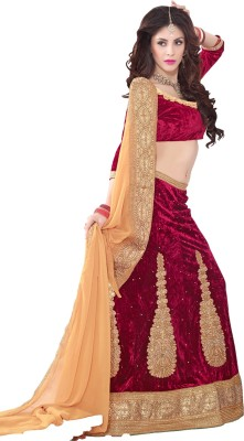 Aastha Sarees Embellished Women's Lehenga, Choli and Dupatta Set