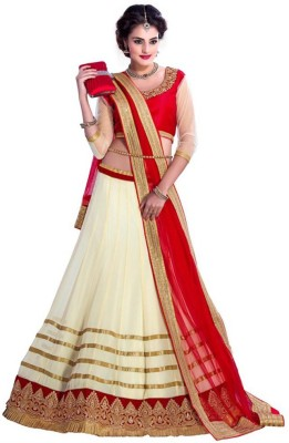 DealSeven Fashion Georgette Embroidered Lehenga Choli Material
