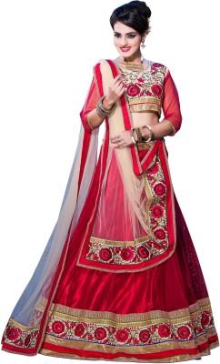 Aarnas Fashion Embroidered Women's Ghagra, Choli, Dupatta Set