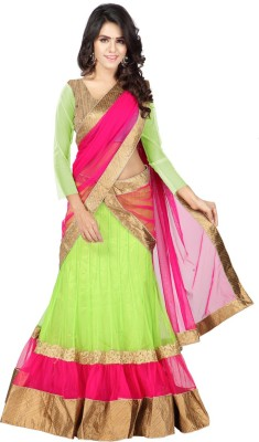 Anu Clothing Embroidered Women's Lehenga, Choli and Dupatta Set(Stitched) at flipkart
