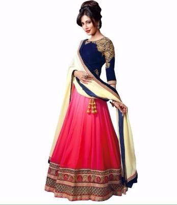 F3 Fashion Self Design Women's Lehenga, Choli and Dupatta Set