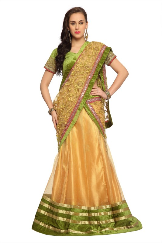 Designersareez Self Design Women's Lehenga Choli(Stitched)