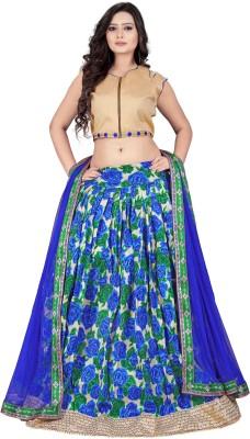 Parishi Fashion Floral Print Women's Lehenga, Choli and Dupatta Set