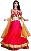Decent Fabric Chaniya, Ghagra Cholis - Decent Fabric Embellished Women's Lehenga, Choli and Dupatta Set(Stitched)
