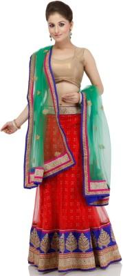 Fashion Fiesta Embroidered Women's Lehenga, Choli and Dupatta Set