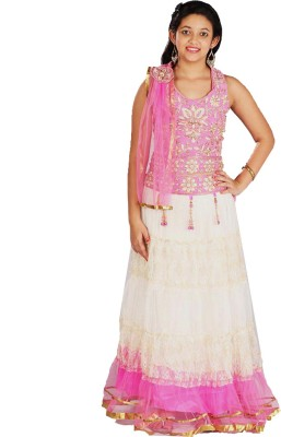 Saarah Self Design Women's Lehenga, Choli and Dupatta Set