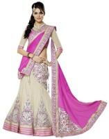 Happneyfab Chaniya, Ghagra Cholis - Happneyfab Self Design Women's Ghagra, Choli, Dupatta Set(Stitched)