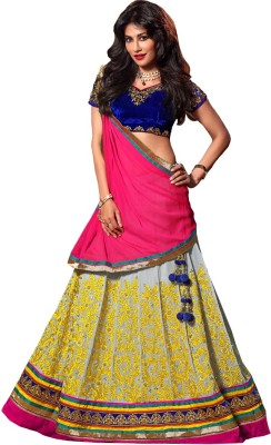 Resham Fabrics Self Design Women's Lehenga Choli