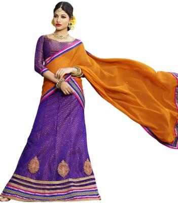 Vogue Era Embroidered Women's Lehenga, Choli and Dupatta Set