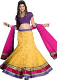 Silkbazar Self Design Women's Lehenga Ch...