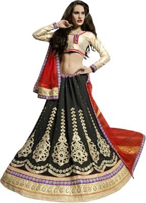 Manvaa Self Design Women's Lehenga, Choli and Dupatta Set