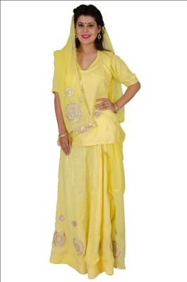 Anvika Creations Self Design Women's Ghagra, Choli, Dupatta Set