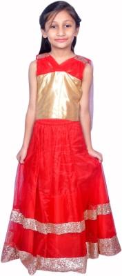De Kafal Embellished Girl's Ghagra, Choli, Dupatta Set