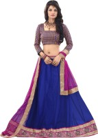Anu Clothing Chaniya, Ghagra Cholis - Anu Clothing Self Design Women's Lehenga, Choli and Dupatta Set(Stitched)