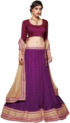 Desibutik Embroidered Womens Lehenga, Choli and Dupatta Set