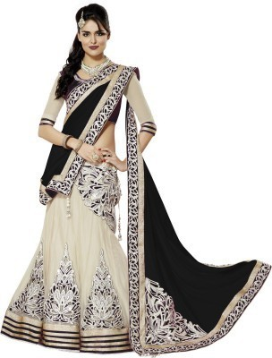 Palavizzz Embriodered Lehenga Saree Georgette Sari