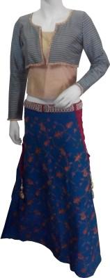 Aarzoo Self Design Girl's Lehenga Choli
