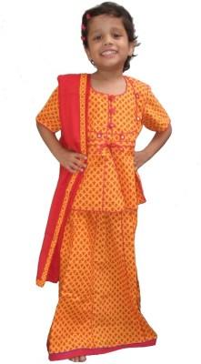 Sudharaj Printed Girl's Lehenga, Choli and Dupatta Set