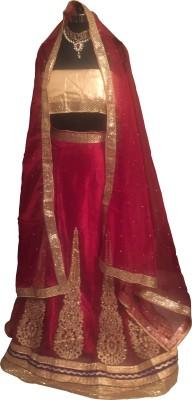 PITAARAH Embroidered Women's Lehenga, Choli and Dupatta Set