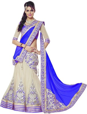Look N Buy Embroidered Women's Lehenga, Choli and Dupatta Set