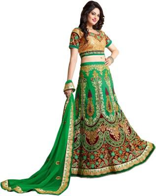 Fab Exclusive Embroidered Women's Lehenga, Choli and Dupatta Set