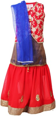 Little Radha Embroidered Girl's Lehenga Choli