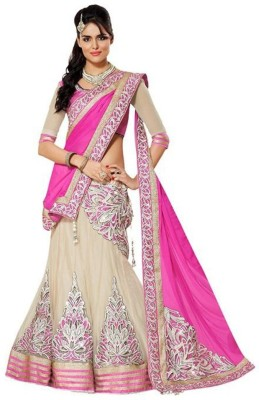 Nm Textile Net Embroidered Lehenga Choli Material