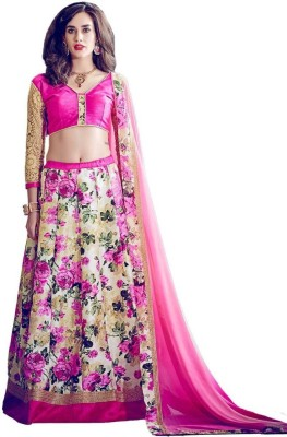 krushna creation Floral Print Women's Lehenga, Choli and Dupatta Set