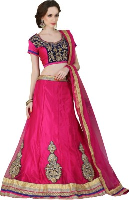 Rue Boutique Embroidered Women's Ghagra, Choli, Dupatta Set