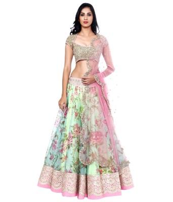Shree krishna fashion Self Design Women,s Lehenga, Choli and Dupatta Set