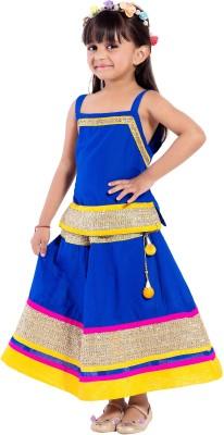 MAGNUS Self Design Girl's Lehenga Choli