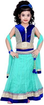 Arshia Fashions Embroidered Girl's Lehenga, Choli and Dupatta Set