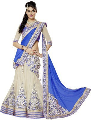 Fab Ikshvaku Self Design Women's Lehenga, Choli and Dupatta Set