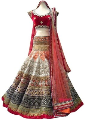 Wing Deals Embroidered Women's Lehenga, Choli and Dupatta Set