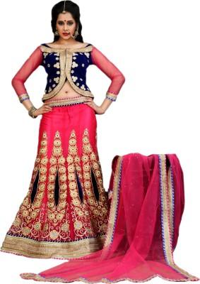 Go4fashion Embroidered Women's Lehenga, Choli and Dupatta Set
