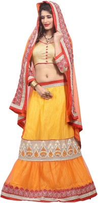 vandv shop Embroidered Women's Lehenga, Choli and Dupatta Set