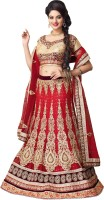 Fab Exclusive Chaniya, Ghagra Cholis - Fab Exclusive Embroidered Women's Lehenga, Choli and Dupatta Set(Stitched)