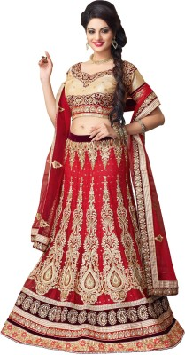 Fab Exclusive Embroidered Women's Lehenga, Choli and Dupatta Set
